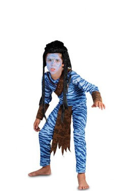 Disfraz de Guerrero azul para niño