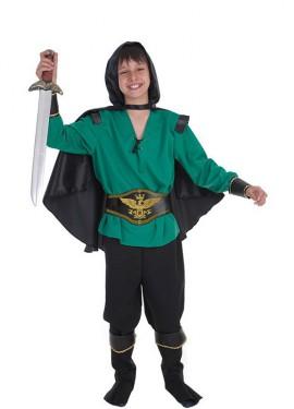 Disfraz de Guerrero encapuchado para niño