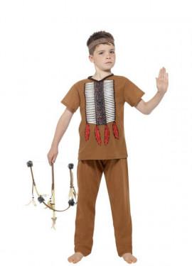 Disfraz de Guerrero Indio Americano para niño