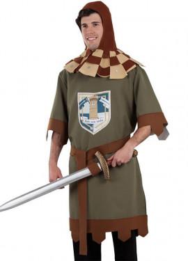 Costume da guerriero verde medievale per uomo