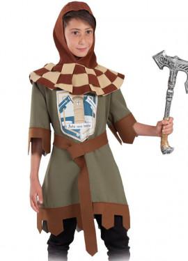 Disfraz de Guerrero Verde Medieval para niño