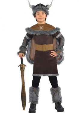 Déguisement de Guerrier Viking Barbare Garçons et Ados plusieurs tailles