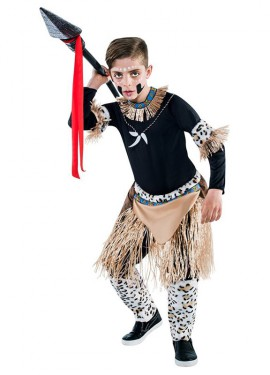 Disfraz de Guerrero Zulú para niño