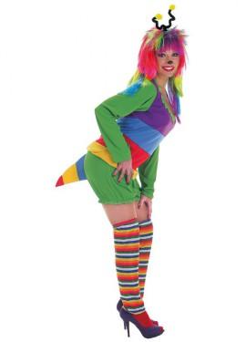 Disfraz de Gusanita con peluca para mujer