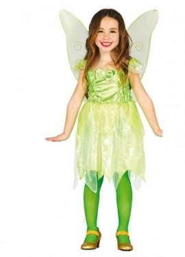 Disfraz de Hada del Bosque verde para niña