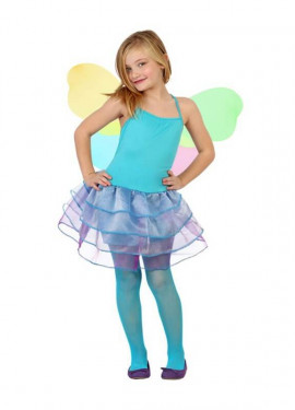 Disfraz de Hada Invierno azul y lila para niñas