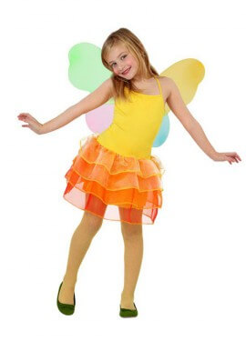 Disfraz de Hada Verano amarilla de niñas