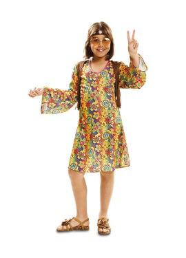 Disfraz de Happy Hippie para niña