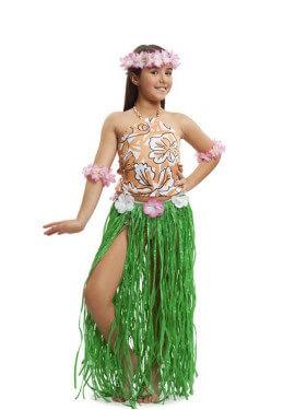 Disfraz de Hawaiana Chic para niña