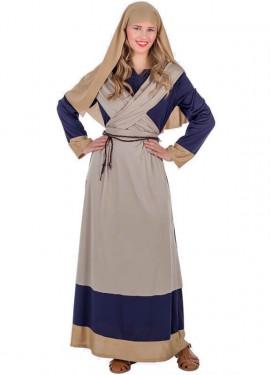 Costume da Ebrea marrone e blu per donna
