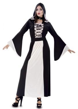 Disfraz de Hechicera Medieval Blanca para mujer