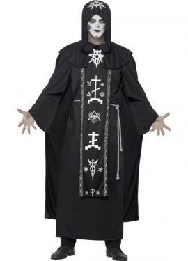 Disfraz de Hechicero de Magia Negra para adultos