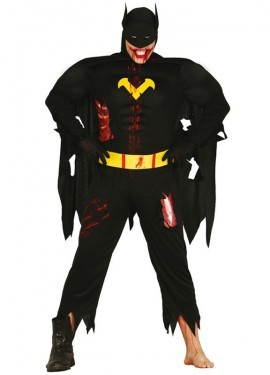 Disfraz de Héroe Murciélago Zombie para hombre