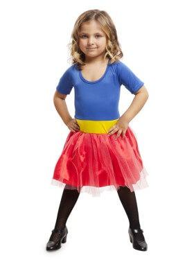 Disfraz de Heroína Azul para niña