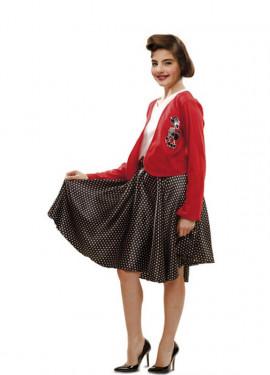 Disfraz de High School o de los Años 50 para niña