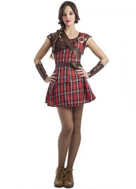 Disfraz de Highlander Escocesa para mujer