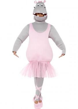 Déguisement d'Hippopotame Ballerine pour adultes