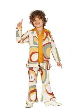 c57ed9b86 Disfraz de Hippie Años 70 para niño