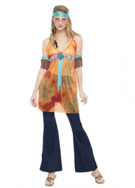 Disfraz de Hippie California para mujer