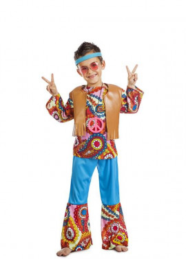 Disfraz de Hippie Chaleco para niño
