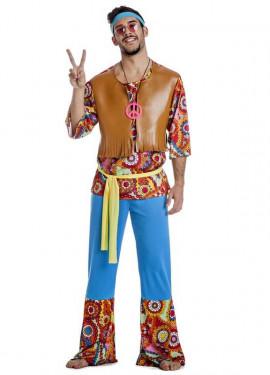 Disfraz de Hippie con Chaleco para hombre