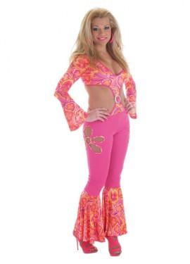Disfraz de Hippie Flower Power sexy para mujer