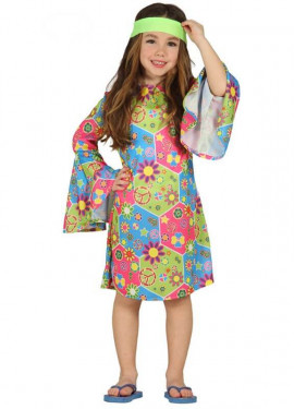 Disfraz de Hippie Girl para niña