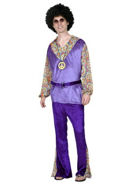 Disfraz de Hippie para chicos talla S