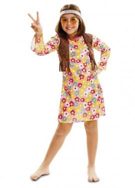 Disfraz de Hippie Primavera para niña