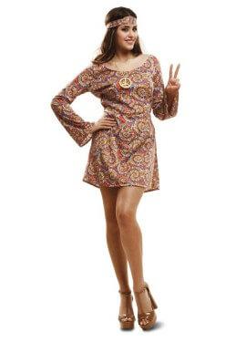 Disfraz de Hippie Psicodélica para mujer