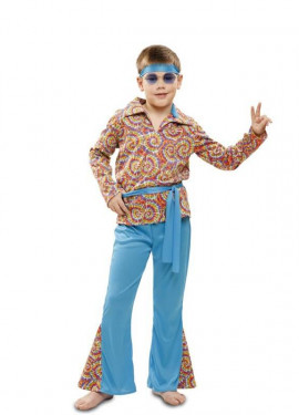 Disfraz de Hippie Psicodélico para niño