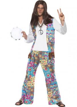 Disfraz de Hippy Fabuloso para Hombre