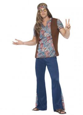 Disfraz de Hippy Multicolor para hombre