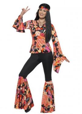 Disfraz de Hippy Multicolor para mujer
