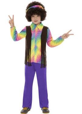 Costume hippy multicolore per ragazzo