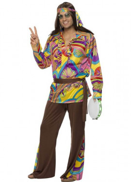 Disfraz de Hippy Psicodélico para Hombre