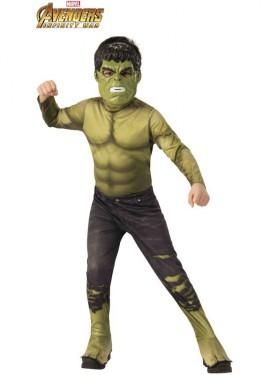 Disfraz de Hulk Clásico de los Vengadores para niño