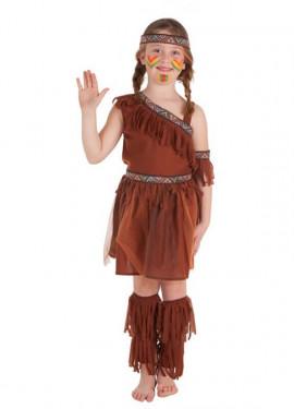 Disfraz de India con falda de Gasa para niña
