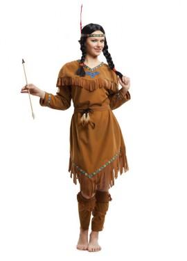 Disfraz de India marrón para mujer