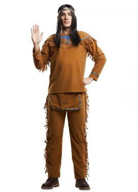 Disfraz de Indio con flecos para hombre