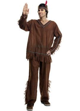 Disfraz de Indio marrón para hombre