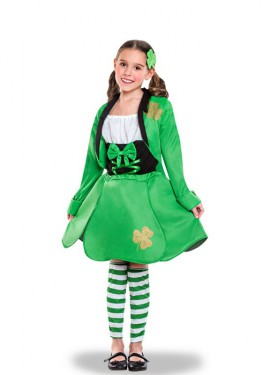 Disfraz de Irlandesa de San Patricio para niña