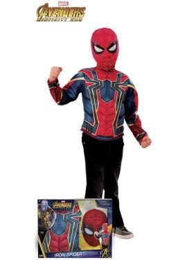 Disfraz de Iron Spider de los Vengadores en caja para niño