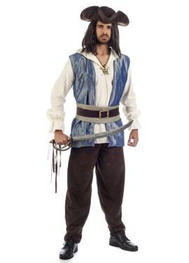 Disfraz de Jack el Calicó del siglo XVIII para hombre