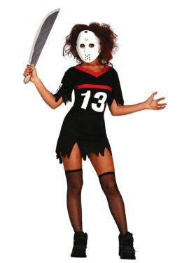 Disfraz de J.C Dead con máscara