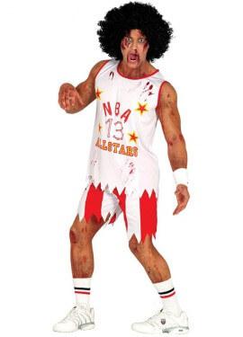Disfraz de Jugador Básquet Zombie para hombre