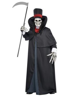 Disfraz de la Muerte para hombres en talla M-L Halloween