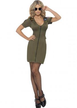 Disfraz de la película de Top Gun sexy para mujer