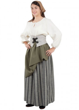 Disfraz de Labradora Medieval para mujer