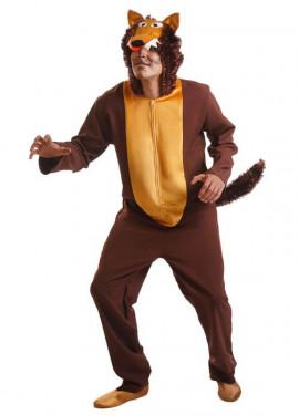 Disfraz de Lobo Marrón para Hombre talla Universal M-L